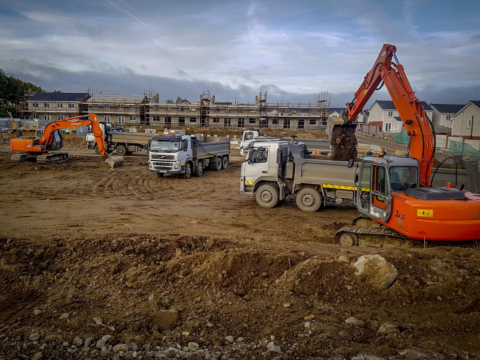 Meath Plant Hire excavators loading lorries